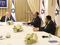 """פגישת מפלגת ש""""ס בפגישת ייעוץ עם הנשיא ריבלין בבית הנשיא / צילום: מארק ניימן, לע""""מ"""