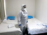 מתתם הבידוד בבית החולים שיבא / צילום: שאול גולן
