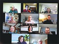 פגישת עבודה דרך זום  / צילום: רויטרס