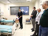 """הדגמה טכנולוגית של צוות מפתחים מרפאל, השבוע במרכז הרפואי שמיר (אסף הרופא) / צילום: יח""""צ"""
