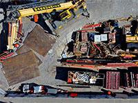 אתר בניה בבוסטון שעבודתו מושהית עקב התפשטות נגיף הקורונה / צילום: David Goldman, Associated Press