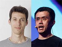 """צ'אנגפנג זאו (CZ), מנכ""""ל Binance, גיא בן-ארצי, מנכ""""ל Bancor  / צילום: רויטרס, יח""""צ"""