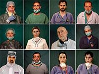 הגיבורים של איטליה בימי קורונה. באסון התאומים היו אלה הכבאים שהתייצבו בחזית, היום אלה האחים והרופאות. / צילום: Associated Press