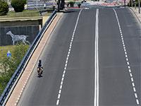 גשר הירקון בתל אביב ריק בצל הקורונה / צילום: איל יצהר, גלובס