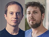 "תום טמאן, שותף מייסד של פורטיס (מימין), ואריק וורהיס, מייסד שייפשיפט / צילום: יח""צ Portis, יח""צ ShapeShift"
