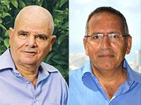"""עו""""ד יגאל לוי וחיים גרון / צילום: תמונה פרטית, שלומי יוסף"""