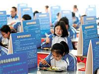מחיצות קרטון בקפיטריה. שום דבר לא יהיה אותו דבר / צילום: China Daily, רויטרס