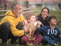 תמר גלילי, הבעלים של בית בד גלילי, ומשפחתה / צילום: תמונה פרטית