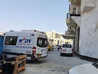 """אתר הבנייה ברחוב יוסף בורג בבאר שבע שבו נהרג פועל בניין / צילום: זק""""א"""