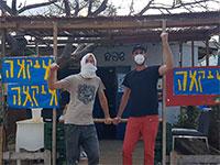 מחאת העצמאיים בקפה שפירא בעקבות אישור הפתיחה מחדש של רשת איקאה / צילום: אורן פישר