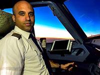 ירון מופז, קברניט מנהל ההדרכה של ציי האיירבוס של ישראייר, בתוך תא בטייס / צילום: מוני שפיר