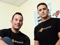 ניר ארז (מימין) ורועי ביק, שניים ממייסדי חברת מוביט / צילום: איל יצהר, גלובס