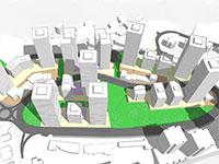 התחדשות עירונית ברחוב הנורית / הדמיה: ראי כהן אדריכלים