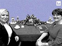 מנהיגות צפון אירלנד ארלין פוסטר ומישל אוניל  צילום Liam McBurneyPool, רויטרס / צילום: Liam McBurney/Pool, רויטרס