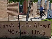 חנות ענתיקות ואמנות בסולט לייק סיטי ביוטה. המגפה הביאה לסגירה לאחר 40 שנות פעילות / צילום: Rick Bowmer, Associated Press