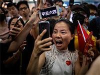 הפגנה בהונג קונג נגד ממשלת סין / צילום: Jorge Silva, רויטרס