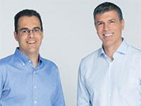 מימין: דרור דוידוף ומשמאל אמיר ג'רבי – CTO, מייסדי Aqua / צילום: ג'ורג' דיסאריו