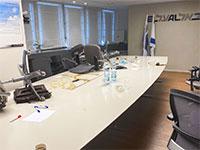 נציגות עובדי אל על פרצו לדיון של ההנהלה והטייסים וזרקו כיסאות / צילום: ההסתדרות