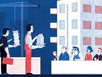 קבלת היתר בנייה / איור: סהר קובר