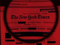 """חופש הביטוי בעיתון ה""""ניו יורק טיימס"""" / עיצוב: טלי בוגדנובסקי , גלובס"""