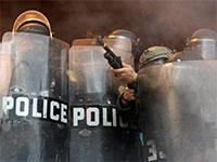המשטרה במיאמי פלורידה בהפגנות ג'ורג' פלויד, ה־30 במאי / צילום: Wilfredo Lee, Associated Press