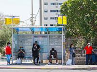 תחנת אוטובוס ברמלה. ממתינים / צילום: שלומי יוסף, גלובס