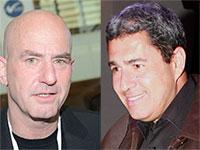 """אבי באום,  יו""""ר ובעלי חילן (מימין), ומוטי גוטמן,  מנכ""""ל מטריקס / צילום: איל יצהר, רוני שיצר"""