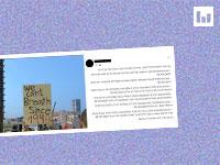הפוסט שלועג למפגינים הערבים שמוחים על קיפוח לפי שורה של נתונים / צילום: צילום מסך