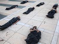 הפגנת עצמאים בתל אביב, נגד מדיניות הממשלה בשבוע שעבר   / צילום: Sebastian Scheiner, Associated Press