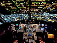 תא הטייס במטוס ישראייר / צילום: מוני שפיר