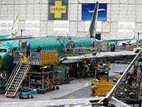 """מטוס 737 Max במפעל של בואינג בוושינגטון, ארה""""ב / צילום: LINDSEY WASSON, רויטרס"""
