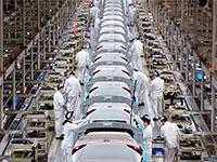 מפעל של הונדה בווהאן, סין באפריל / צילום: Aly Song, רויטרס