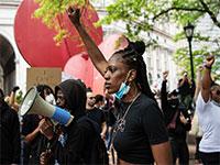 מחאת Black Lives Matter בניו יורק / צילום: JOEL MARKLUND, רויטרס