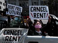 מפגינים בסן פרנסיסקו דורשים לבטל שכר דירה  / צילום: shutterstock, שאטרסטוק