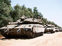 """שיירת טנקים של צה""""ל / צילום: דובר צה""""ל"""