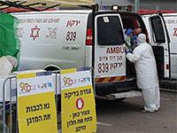 """בדיקת קורונה בתל אביב / צילום: דוברות מד""""א"""