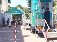 תחנת סקר סרולוגי של קופת חולים לאומית באשדוד. כמה חולים באמת פספסנו? / צילום: משרד הבריאות