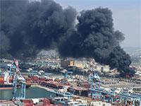 שריפה במפעל שמן במפרץ חיפה, 2019 / צילום: אילן מלסטר- המשרד להגנת הסביבה