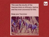 הצילום שפורסם בנושא חיסוני הפוליו באפריקה / צילום: צילום מסך