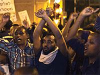 הפגנת יוצאי אתיופיה בתל אביב בשנת 2015 / צילום: Ronen Zvulun, רויטרס