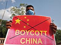 הפגנה נגד סין בעיר אחמדאבאד שבמערב הודו  / צילום: Amit Dave, רויטרס
