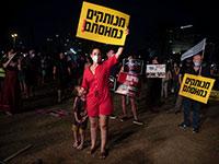 """ההפגנה בת""""א אמש / צילום: Sebastian Scheiner, Associated Press"""
