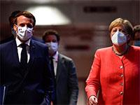 קאנצלרית גרמניה, מרקל ונשיא צרפת, מקרון, השבוע בכינוס המנהיגים האירופים / צילום: John Thys, Associated Press