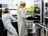 בדיקות קורונה במעבדה בבית חולים בילינסון  / צילום: דוברות בית החולים רבין