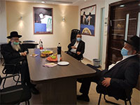 ראשי הסיעות החרדיות, השרים יעקב ליצמן ואריה דרעי ויו״ר ועדת הכספים ח״כ משה גפני בישיבת תיאום / צילום: דובר סיעת יהדות התורה