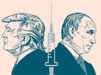 ולדימיר פוטין ודונלד טראמפ / עיצוב: גלובס