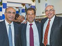 בעלי השליטה במספנות ישראל: שלומי פוגל, אסי שמלצר וסמי קצב / צילום: איל פרידמן