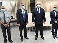 """גמזו, נתניהו, אדלשטיין ולוי / צילום: קובי גדעון, לע""""מ"""