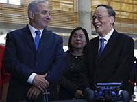נתניהו וסגן נשיא סין וואנג צ'ישאן / צילום: Ariel Schalit, Associated Press