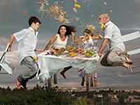 משפחות פיקטיביות. עבודה של מירב הימן בתערכות הקורונה בחיפה / צילום: מירב הימן